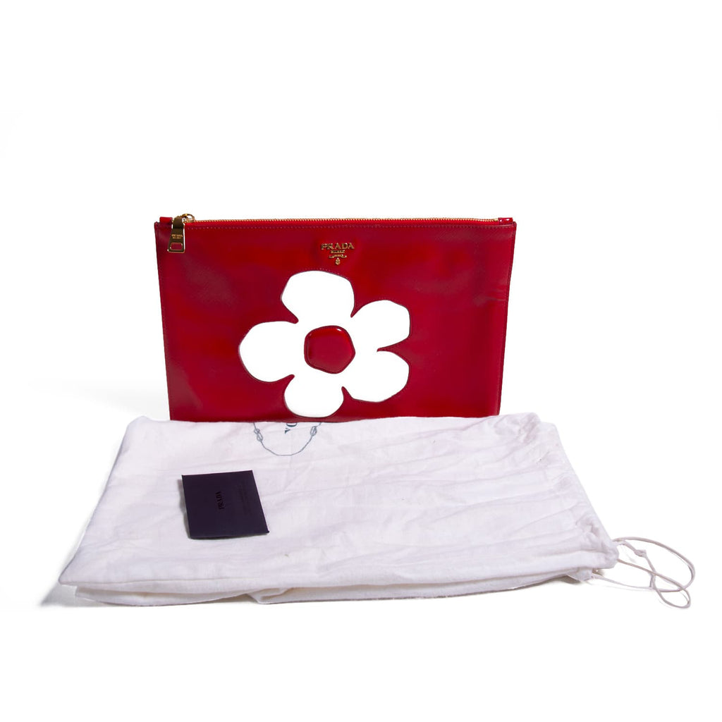 Prada Flower Clutch Bag Bags Prada - Shop authentic new pre-owned designer brands online at Re-Vogue