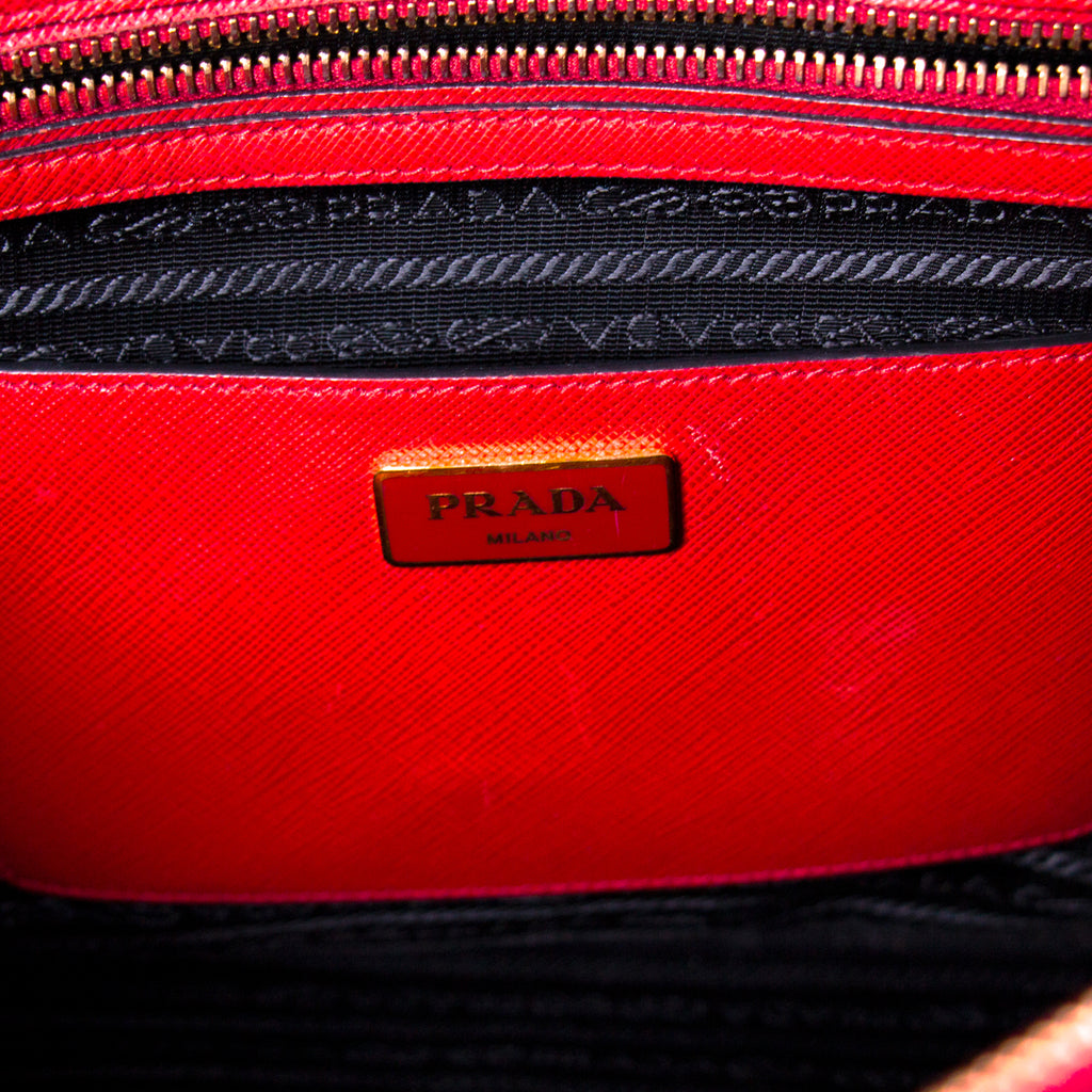 Prada Galleria Double Zip Tote Bag