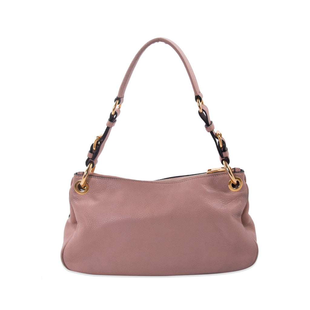 61fb15978c62 Shop authentic Prada Vitello Daino Small Hobo Bag at revogue for ...