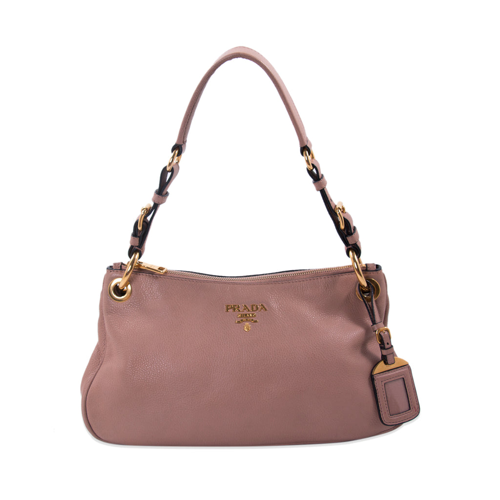 6af1647feada Shop authentic Prada Vitello Daino Small Hobo Bag at revogue for ...