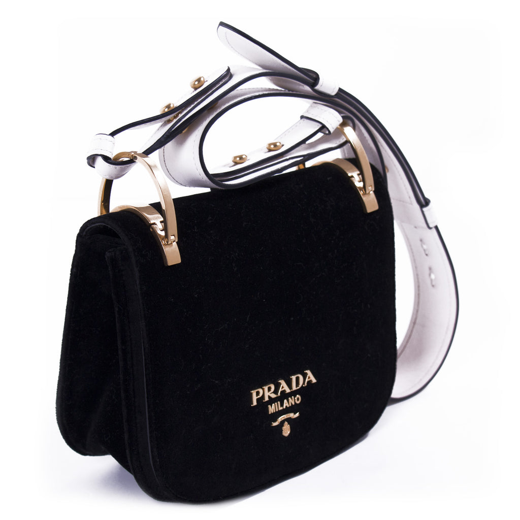 9982c37d6bf5 ... Prada Pionnière Velvet Saddle Bag Bags Prada - Shop authentic new pre-owned  designer brands ...