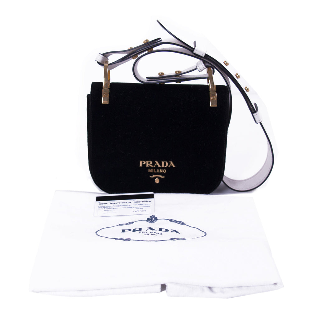 Prada Pionnière Velvet Saddle Bag Bags Prada - Shop authentic new pre-owned designer brands online at Re-Vogue