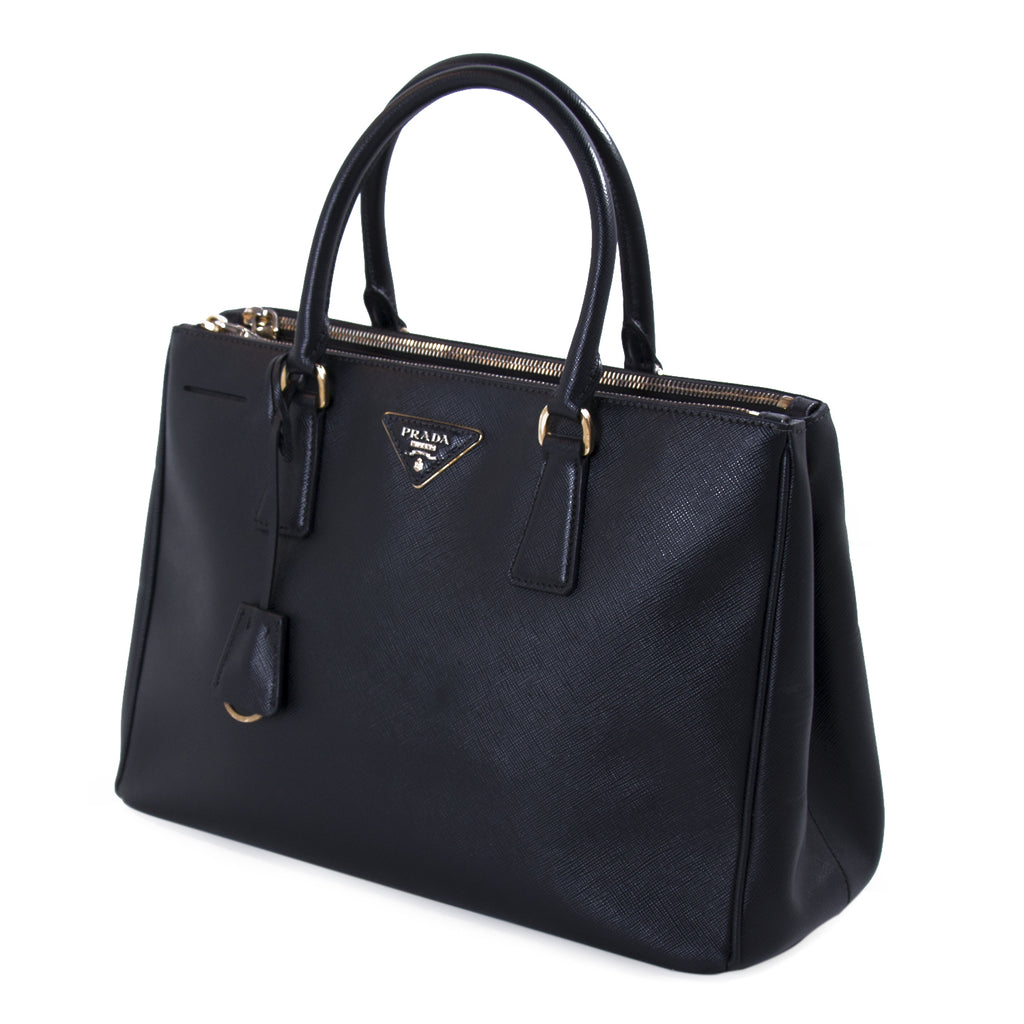 a23d38225593 ... australia prada saffiano lux medium double zip tote bags prada shop  authentic new pre owned 0a7ed