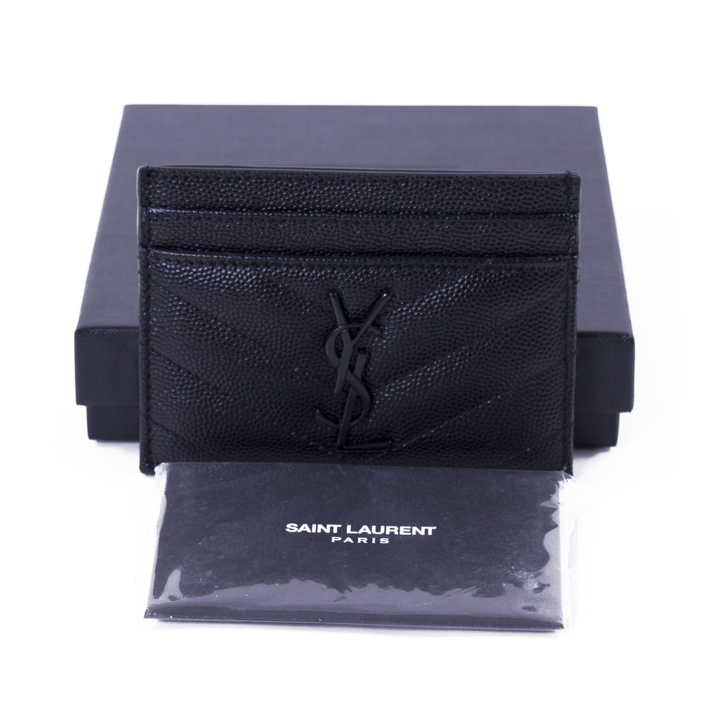 Saint Laurent Black Monogram Card Holder Accessories Yves Saint Laurent - Shop authentic new pre-owned designer brands online at Re-Vogue