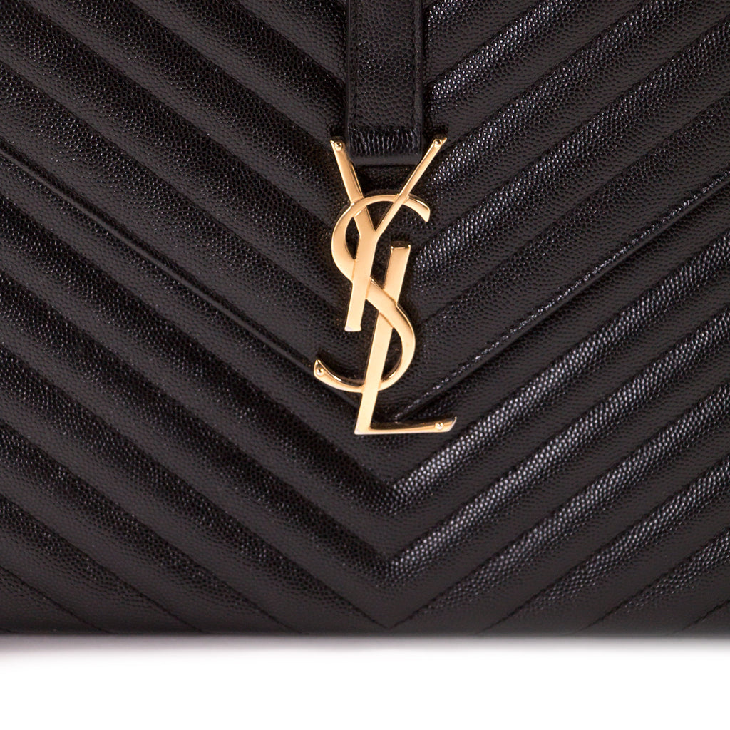 Saint Laurent Monogram Large Quilted Shoulder Bag Bags Yves Saint Laurent - Shop authentic new pre-owned designer brands online at Re-Vogue