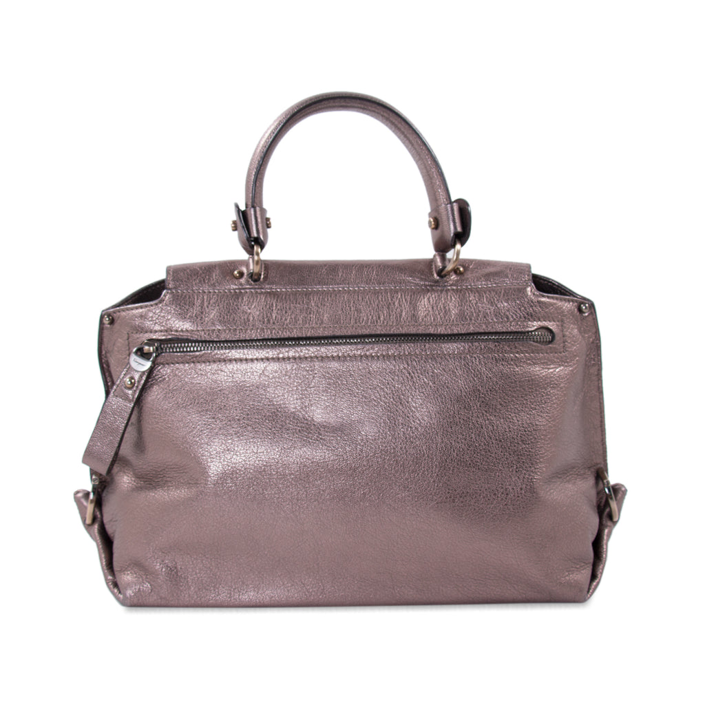Salvatore Ferragamo Metallic Sofia Satchel