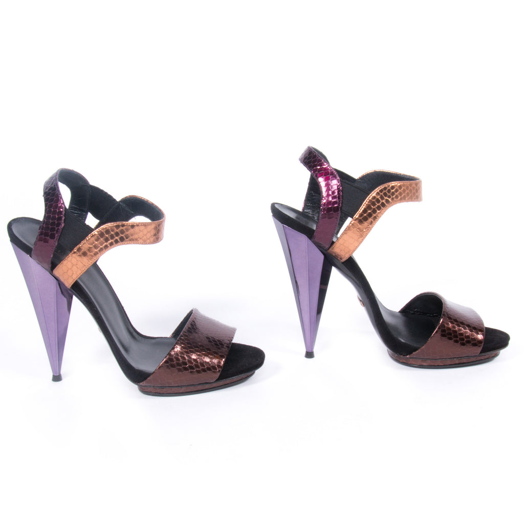 Gucci Snake Skin Sandals -Shop pre-owned luxury designer brands on discount online at Re-Vogue