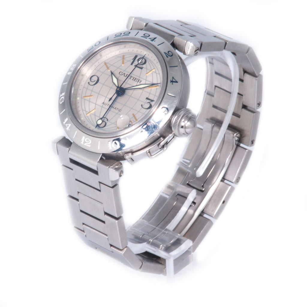 Cartier Pasha C Globus GMT Watch Accessories Cartier - Shop authentic new pre-owned designer brands online at Re-Vogue