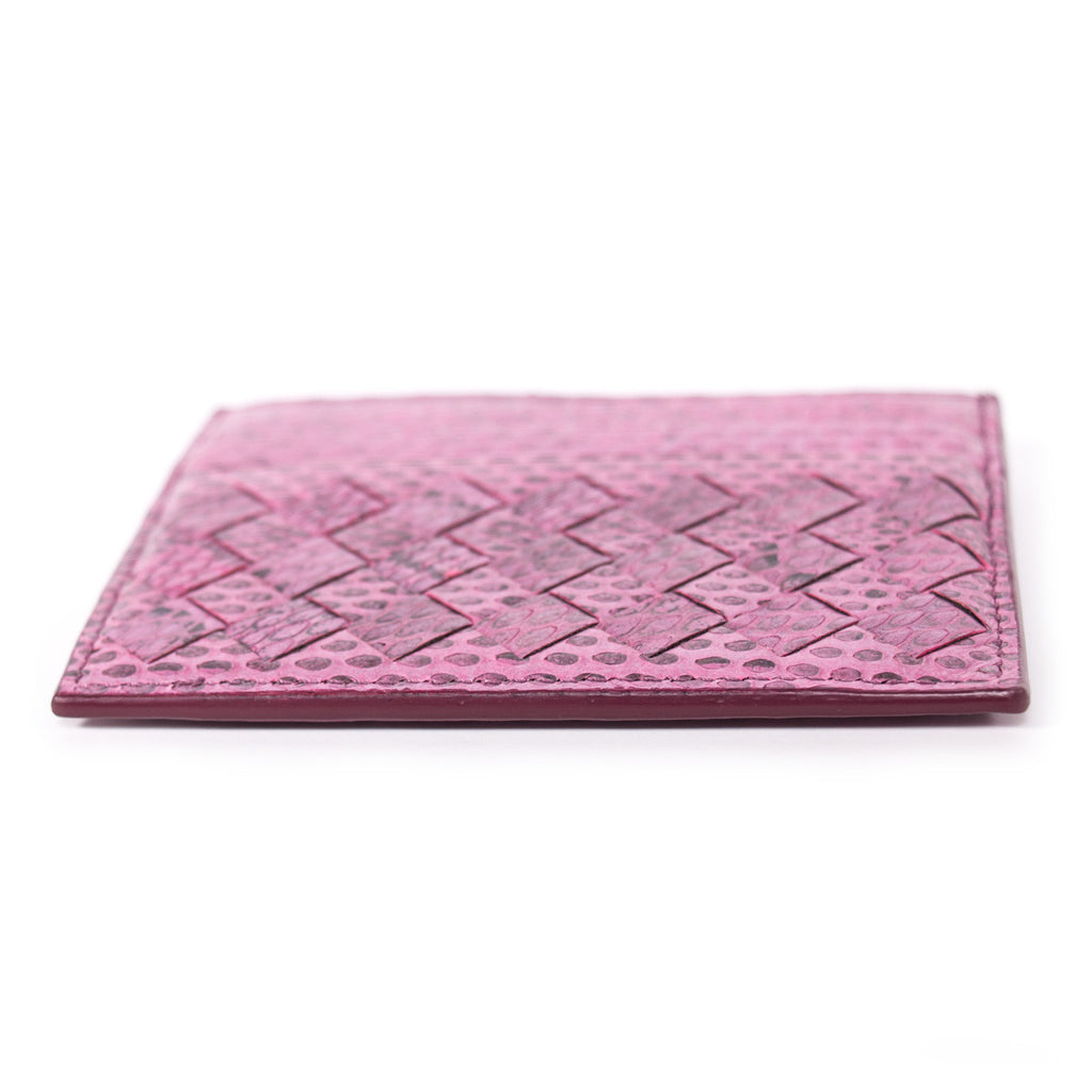 Bottega Veneta Intrecciato Snake Skin Card Holder Accessories Bottega Veneta - Shop authentic new pre-owned designer brands online at Re-Vogue