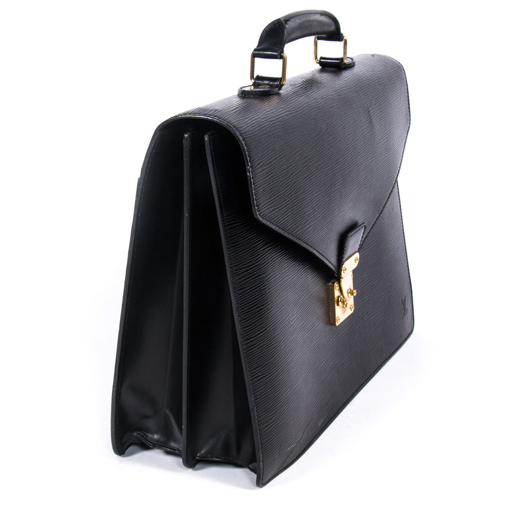 Louis Vuitton Serviette Ambassadeur Briefcase -Shop pre-owned luxury designer brands on discount online at Re-Vogue