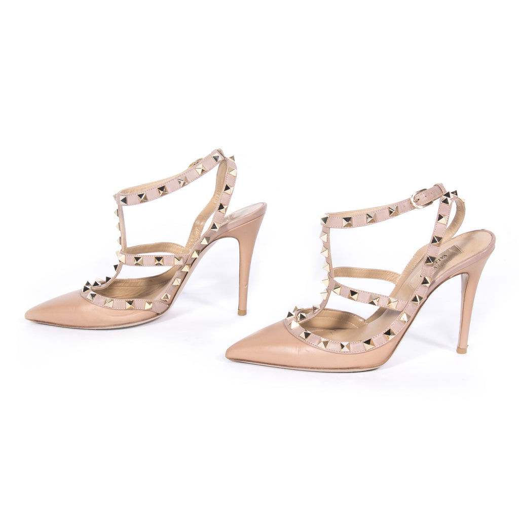 Valentino Leather Rockstud Pumps Shoes Valentino - Shop authentic new pre-owned designer brands online at Re-Vogue