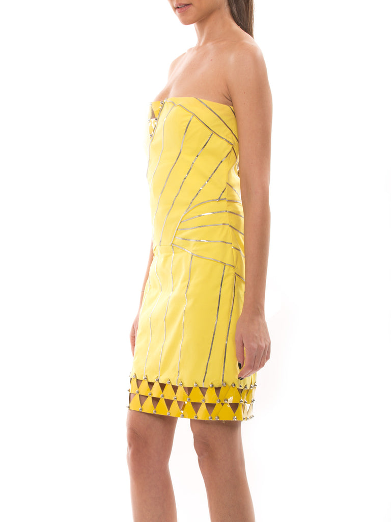 Versace Yellow Dress Dress Versace - Shop authentic new pre-owned designer brands online at Re-Vogue