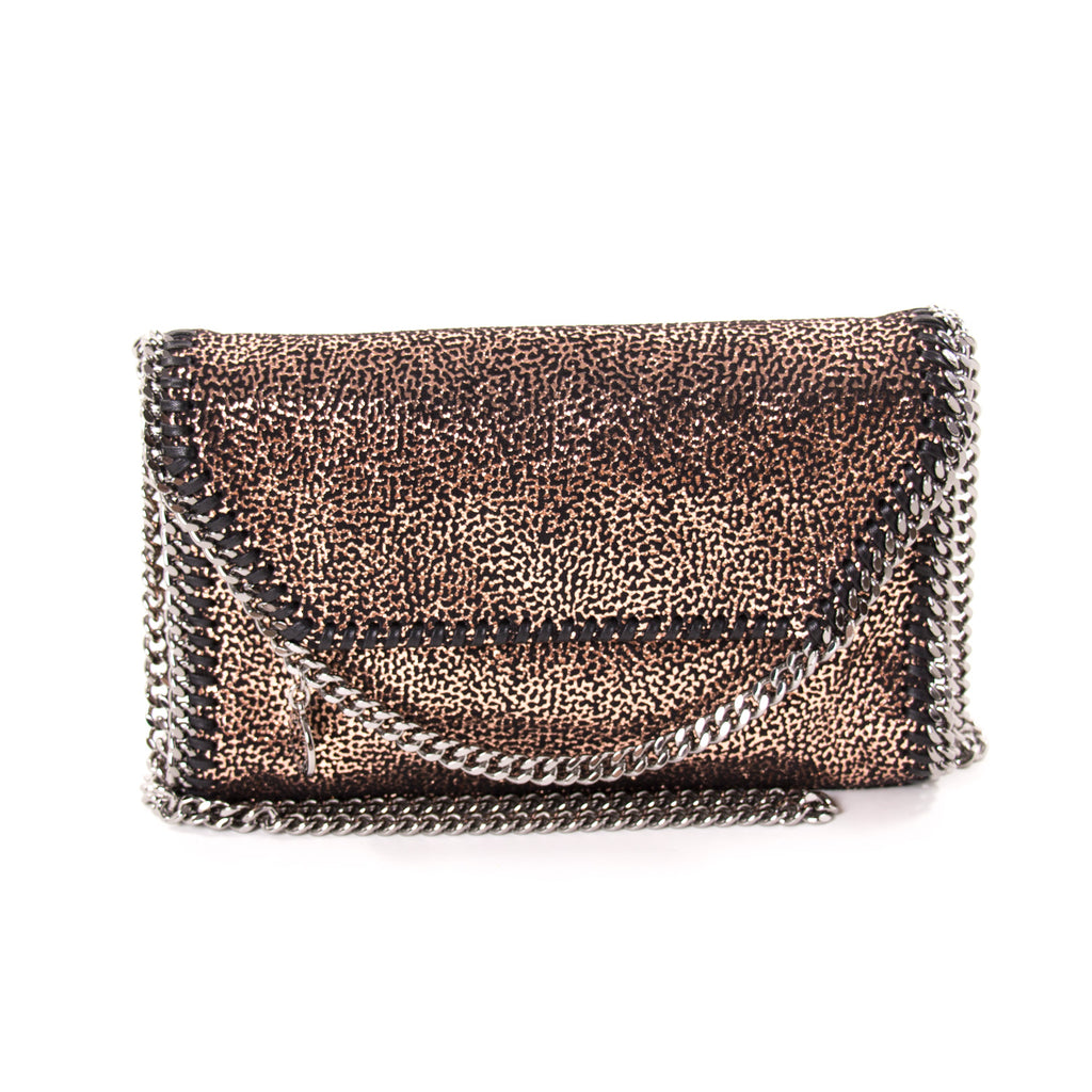 Stella McCartney Specked Metallic Fold Over Shoulder Bag Bags Stella McCartney - Shop authentic new pre-owned designer brands online at Re-Vogue