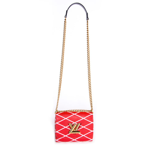 Prada Woven Madras Pattern Shoulder Bag
