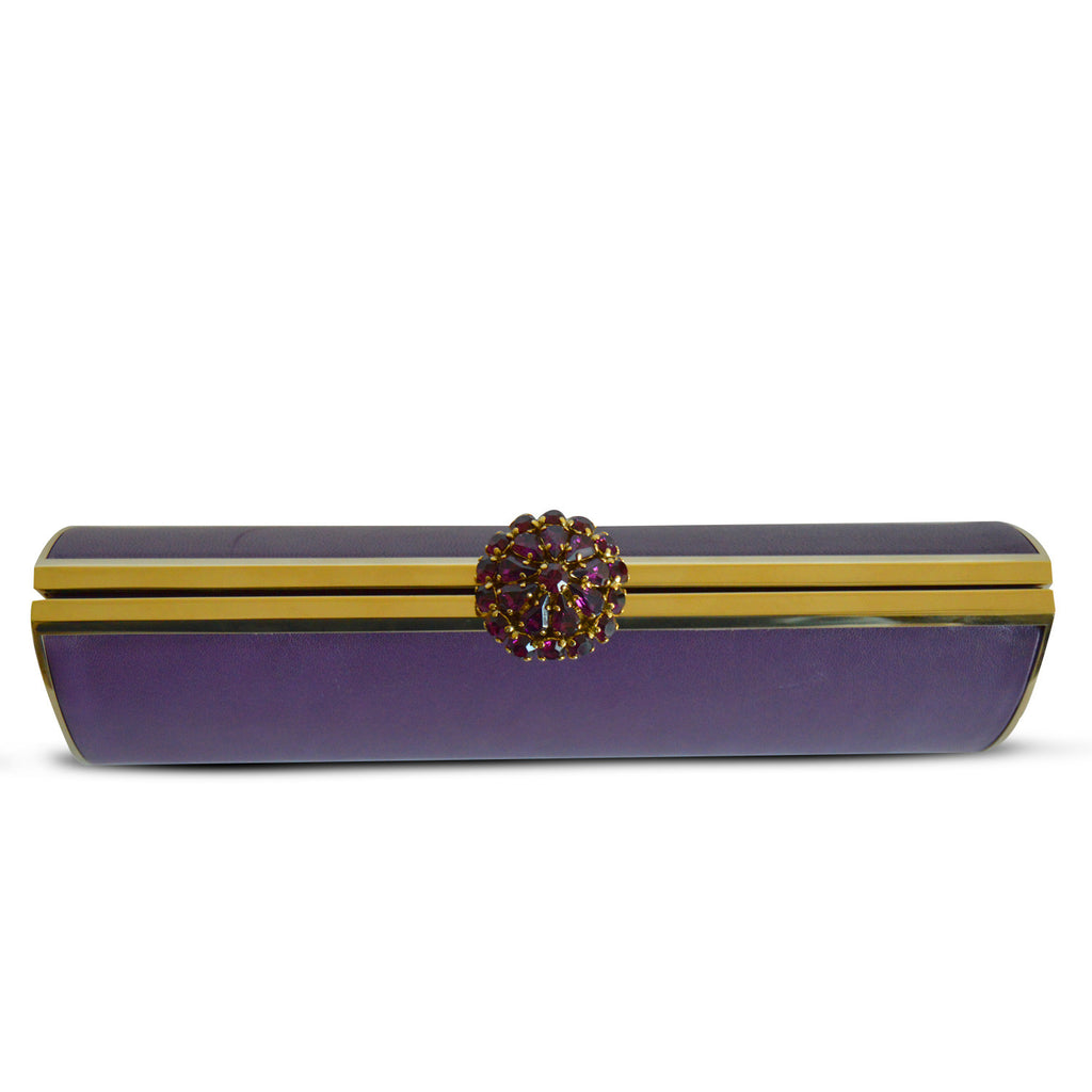 Elie Saab Purple Clutch -Shop pre-owned luxury designer brands on discount online at Re-Vogue