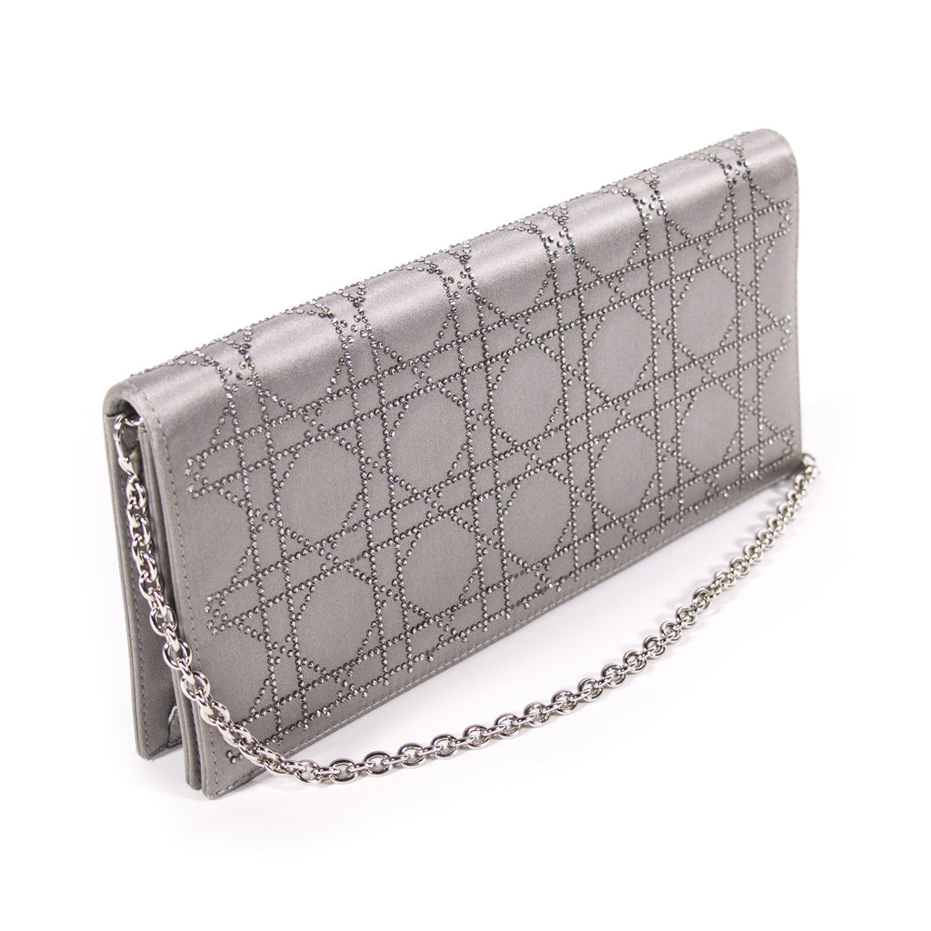 Christian Dior Cannage Satin Clutch Bags Dior - Shop authentic new  pre-owned designer brands