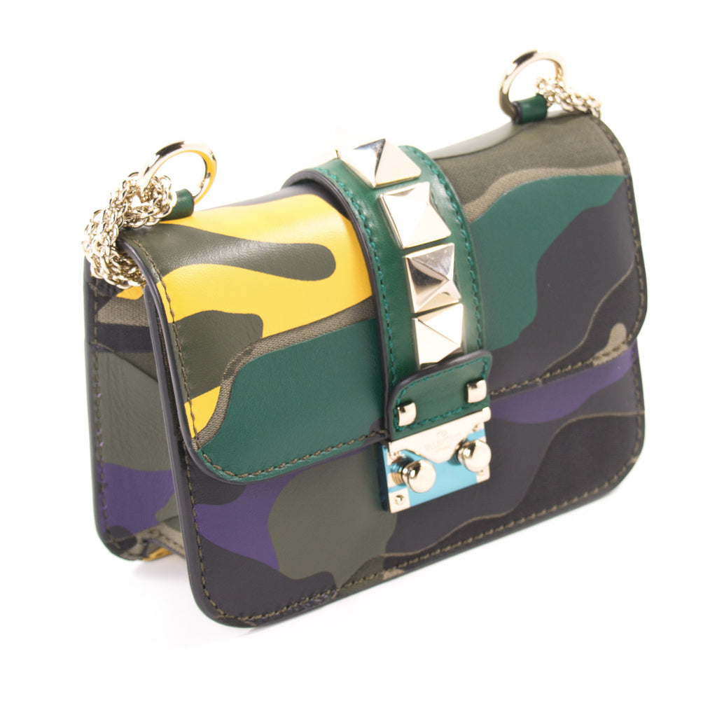 Valentino Camo Glam Lock Rockstud Bag Bags Valentino - Shop authentic new pre-owned designer brands online at Re-Vogue