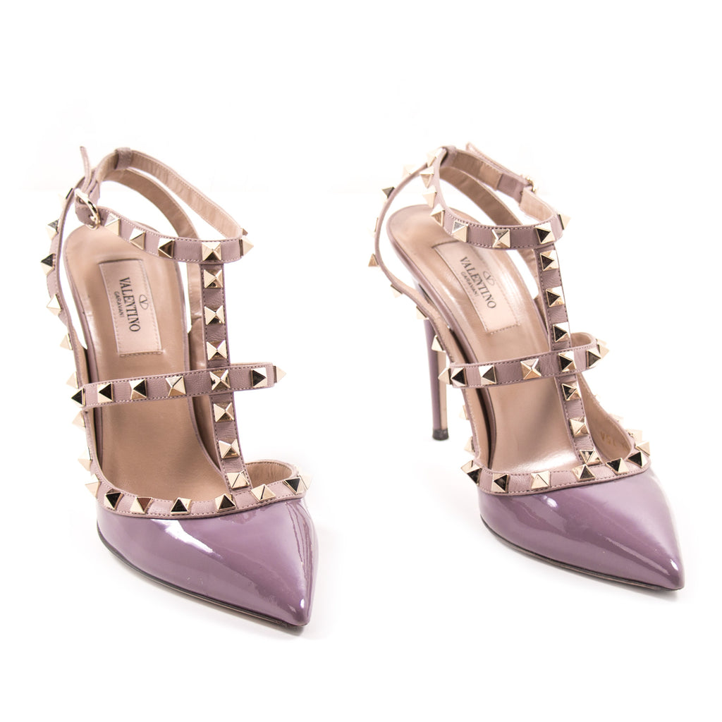 Valentino Rockstud Patent Leather Pumps Shoes Valentino - Shop authentic new pre-owned designer brands online at Re-Vogue