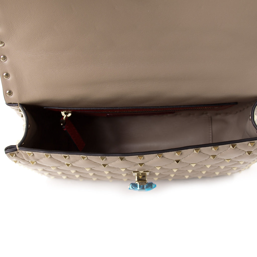 Valentino Rockstud Spike Medium Chain Shoulder Bag Bags Valentino - Shop authentic new pre-owned designer brands online at Re-Vogue