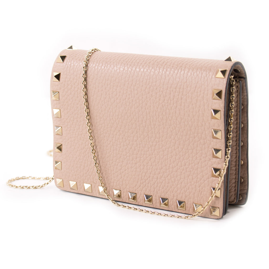 Valentino Mini Rockstud Chain Shoulder Bag Bags Valentino - Shop authentic new pre-owned designer brands online at Re-Vogue