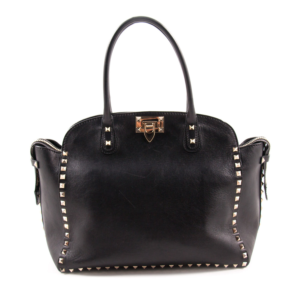 Valentino Black Rockstud Tote Bag Bags Valentino - Shop authentic new pre-owned designer brands online at Re-Vogue