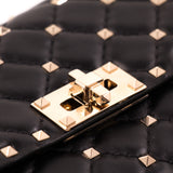 Valentino Quilted Rockstud Wallet on Chain
