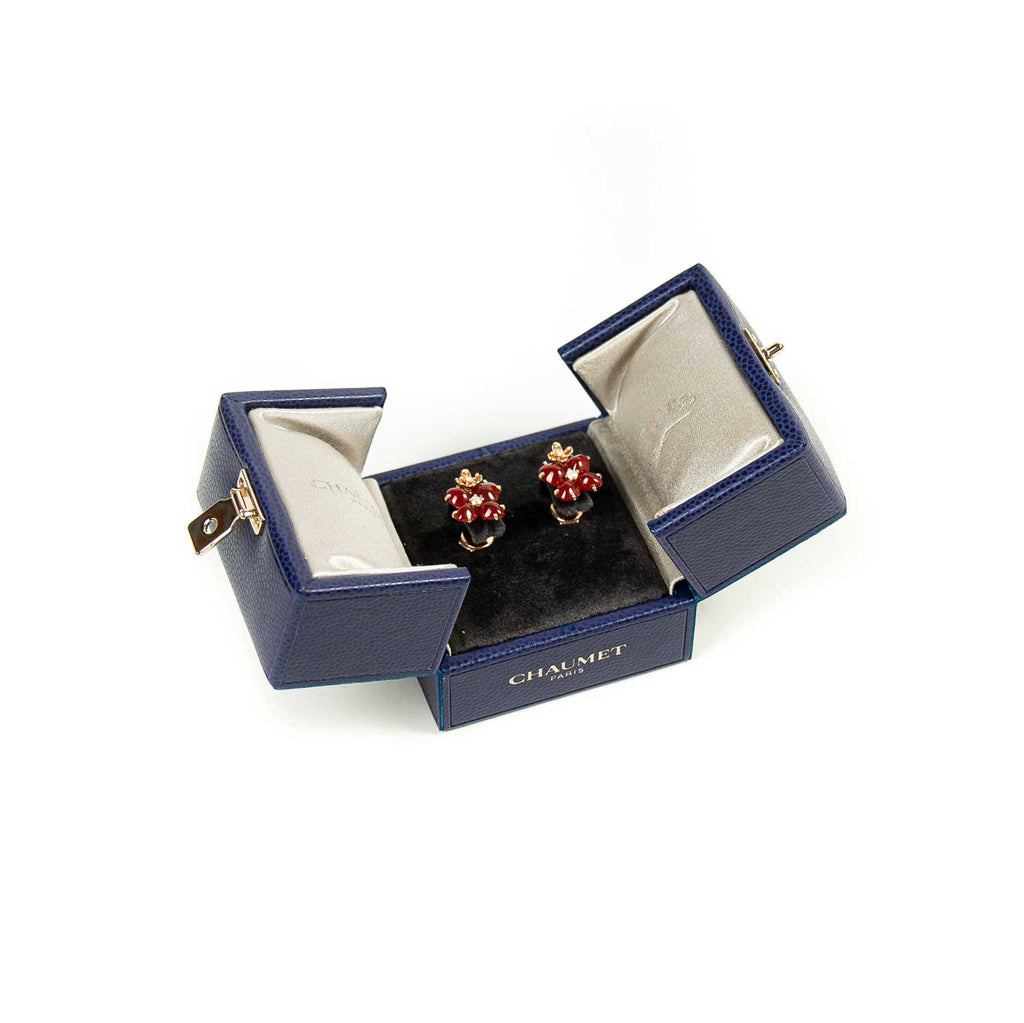 Chaumet Hortensia Aube Rosée Earrings Accessories Chaumet - Shop authentic new pre-owned designer brands online at Re-Vogue