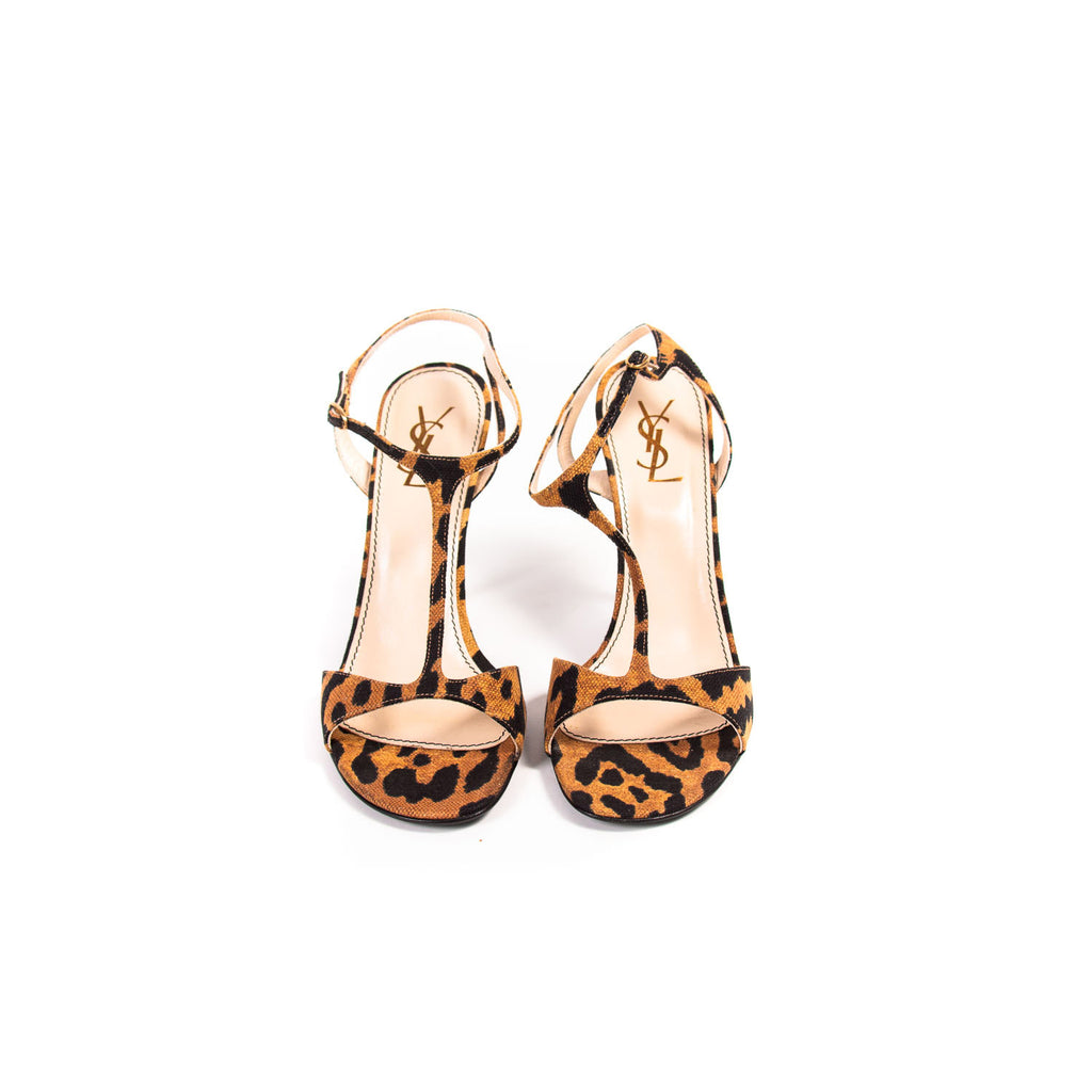 Saint Laurent Leopard Kelly Sandals Shoes Yves Saint Laurent - Shop authentic new pre-owned designer brands online at Re-Vogue