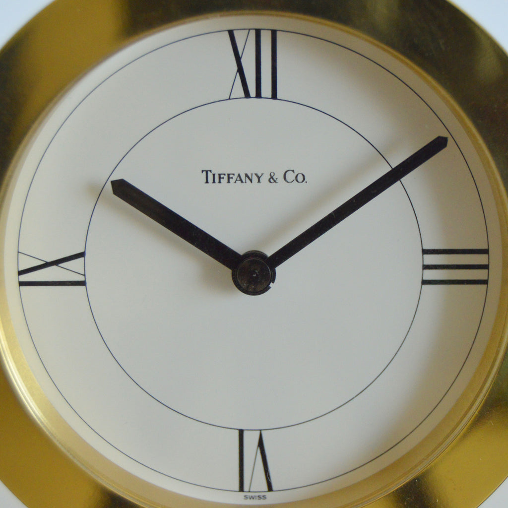 Tiffany & Co. Brass Desk Clock Accessories Tiffany & Co - Shop authentic new pre-owned designer brands online at Re-Vogue