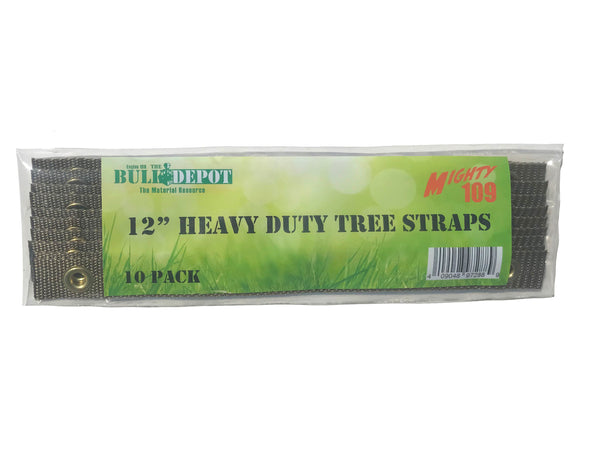 MIGHTY109 12-Inch Heavy Duty Tree Straps, 10 Pack