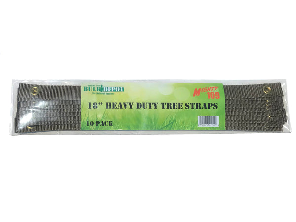 "10 Pack Mighty 109 18"" Heavy Duty Tree Straps"