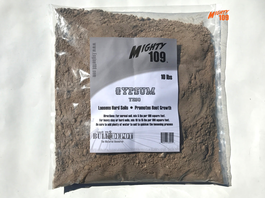 mighty 109 gypsum yeso garden soil softener 10 lbs - Garden Gypsum