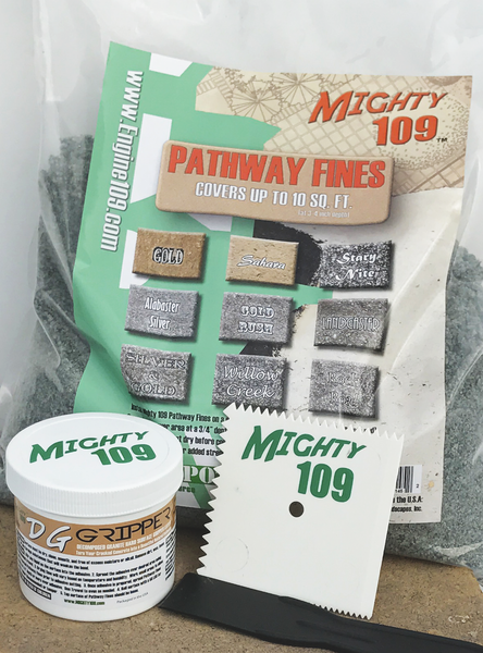 Mighty 109 Pathway System - Turn your cracked, ugly, concrete into a beautiful natural pathway!
