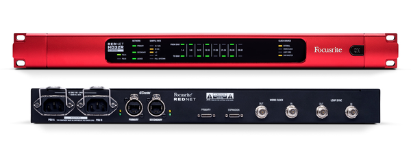 Focusrite RedNet HD32R 32x32 Pro Tools | HD I/O with Dual PSUs