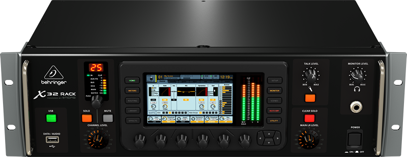 behringer x32 digital rack mixer professional audio design inc. Black Bedroom Furniture Sets. Home Design Ideas