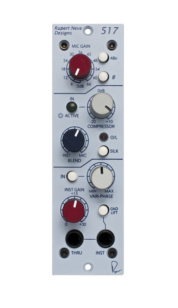Rupert Neve Designs 517 Mic Pre/DI/Compressor with Veri-Phase