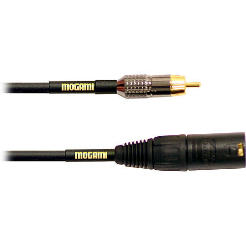 Mogami Gold XLR Male-RCA Male 6ft Patch Cable