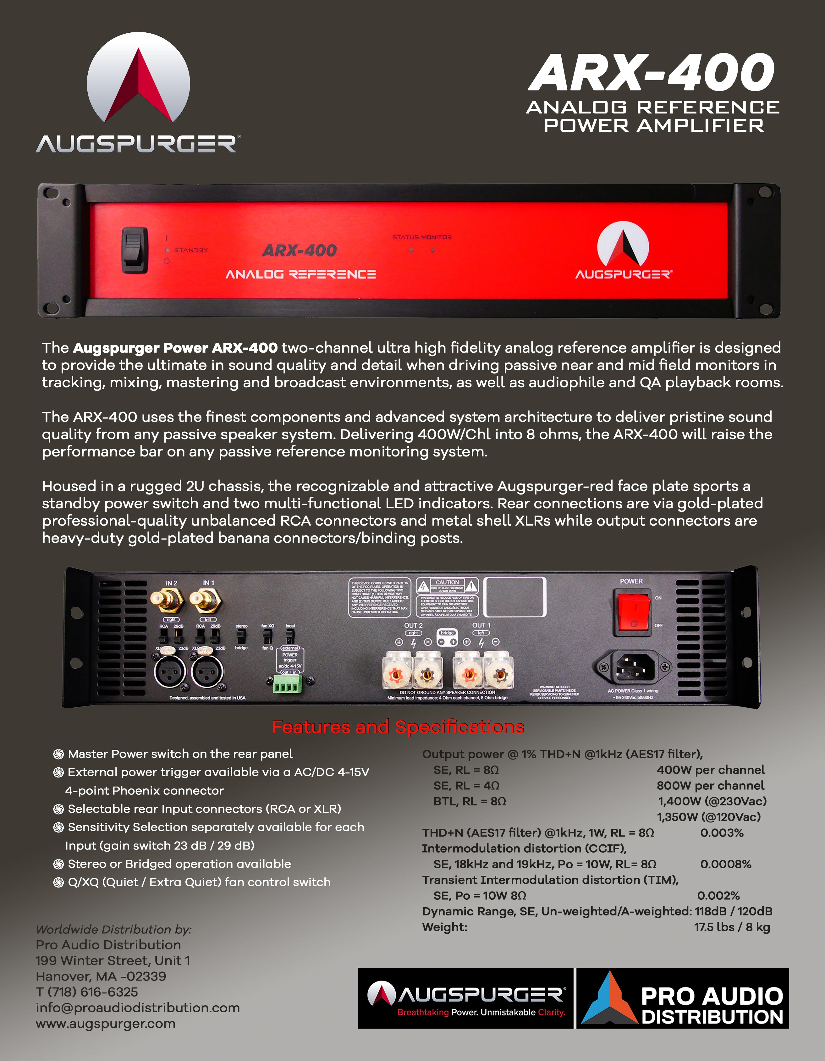 Augspurger Professional Audio Design Inc