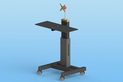 Sound Anchor DAW-1X Workstation stand with one Monitor mount