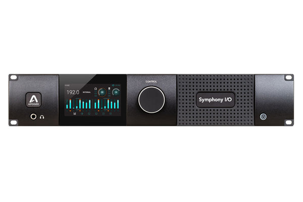 Apogee Symphony I/O MKII SoundGrid Chassis with 8x8 Analog I/O + 8x8 AES/Optical I/O + 8-Channel Mic Preamp Module (Both slots populated)