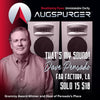 Augspurger Solo 15-Sub218 SXE3/2500 Main Monitor System, PAIR