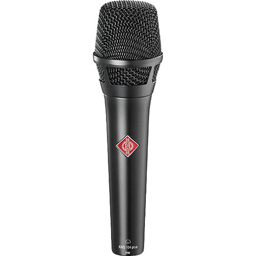 Neumann KMS 104 Plus Cardioid Handheld Microphone with extended bass Frequency response-Black