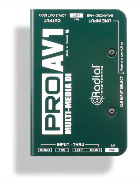 Radial Engineering ProAV1 & ProAV2