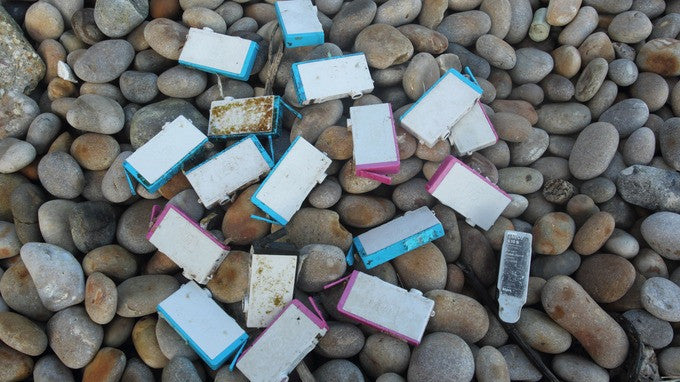 Ink cartridges found washed up on Newquay beach