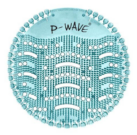 P-Wave Urinal Deodoriser Screens | Ocean Mist | Box of 10