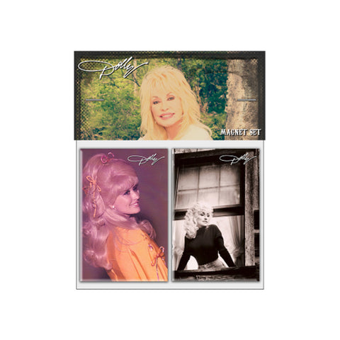 Retro Photo 2pc Magnet Set