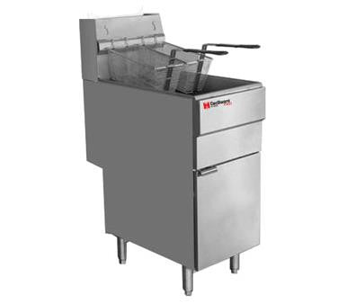 Grindmaster-Cecilware FMS403LP Pro Fryer, gas, floor model, 40 lb fat capacity, Inveysy thermostat (200 - 400 F) - Chefmart