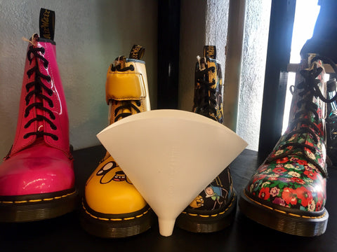 Flat Funnel checking out some eclectic Doc Martens.