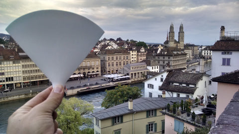 Flat Funnel checking out architecture in Zurich, Switzerland.