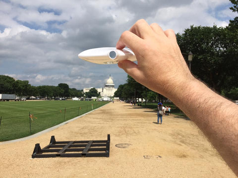 Flat Funnel acting as UFO in Independence Day over Capitol Building in Washington, D.C.